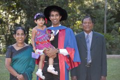 Nishad Mendis & parents Graduation Photo